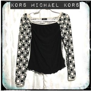 Kors Michael Kors Black and White Circle Top